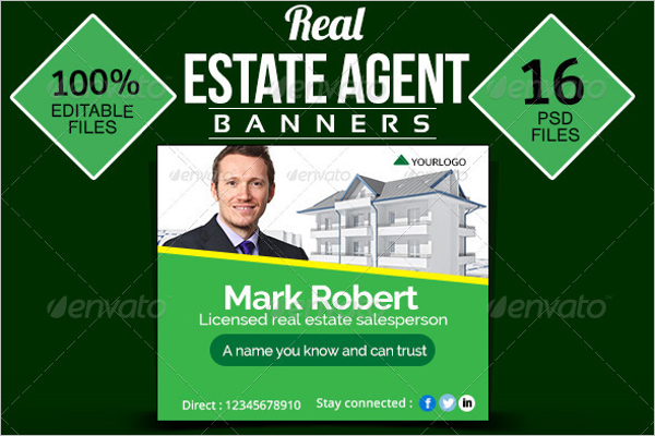 New Real Estate Agent Banner Template
