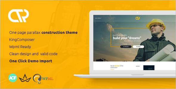 One Page Construction WordPress Theme