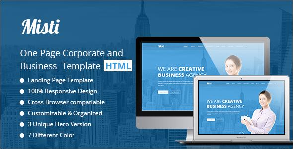 One Page Corporate Portfolio Theme