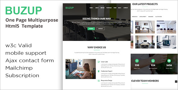 One Page Multipurpose Portfolio Template