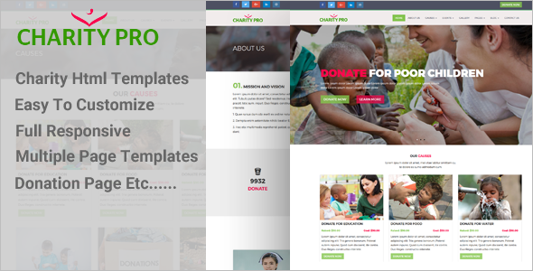 Onepage Multipurpose Charity Template