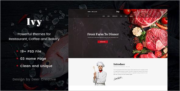 Onepage Restaurant Multipurpose Template