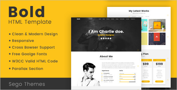 Parallax Portfolio HTML Template