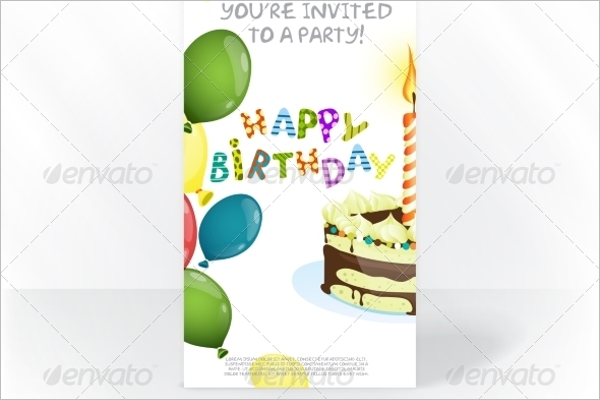 Party Invitation Card Template