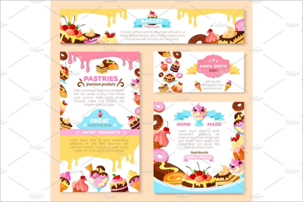 Patisserie Ice Cream Banner Template