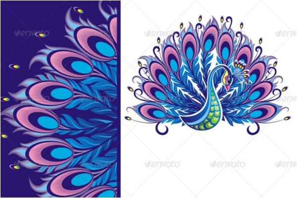 Peacock Card Pattern Creative Template