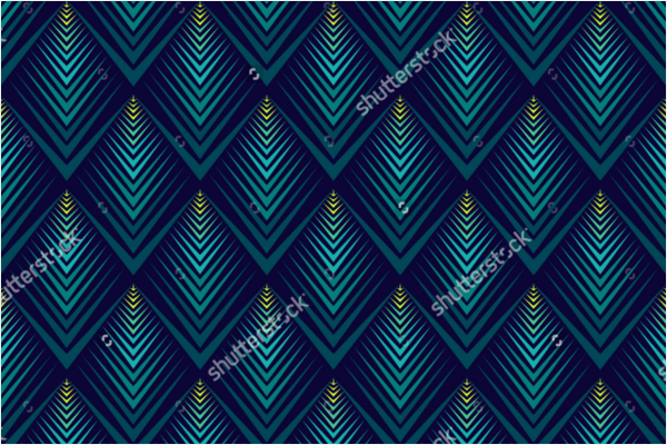Peacock Jagged Edge Pattern