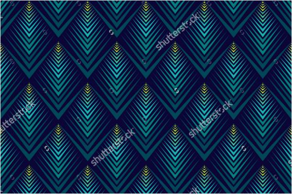 Peacock Jagged Edge Pattern