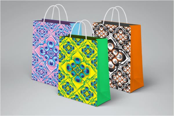 Peacock Print Bag Design
