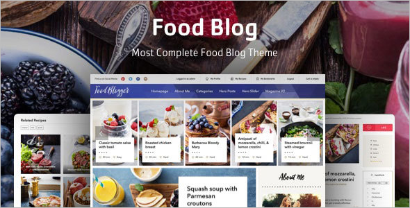 Personal Food Recipe Blog WordPress Theme