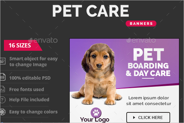 Pet Care Banner Ads Design