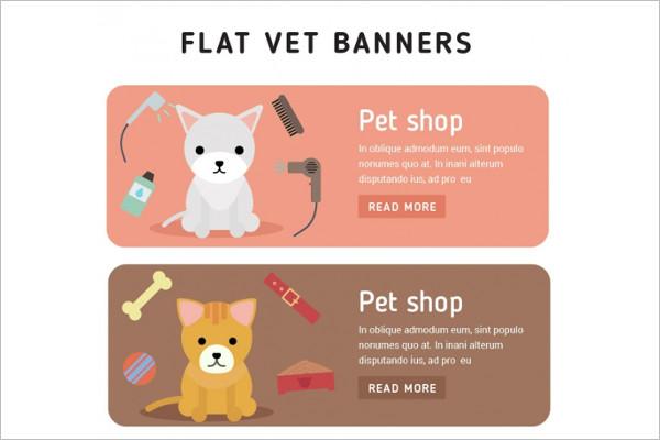 Pet care Shop Banner Design