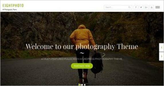 Photography Free Landing Page Theme