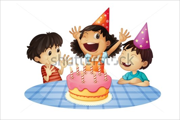 Photoshop Birthday Party Template