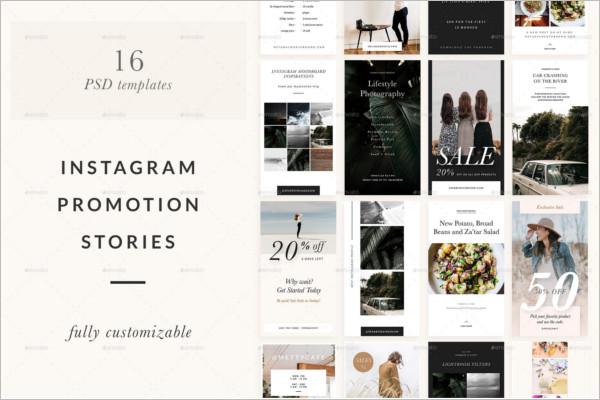 Photoshop Instagram Stories Template