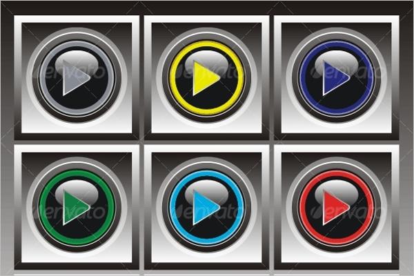 Play Button Set Design