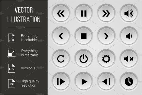 Play Button Vector Design