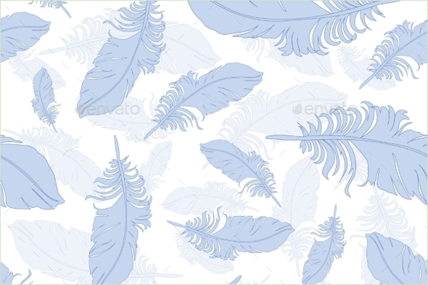 Plumage Background Seamless Pattern