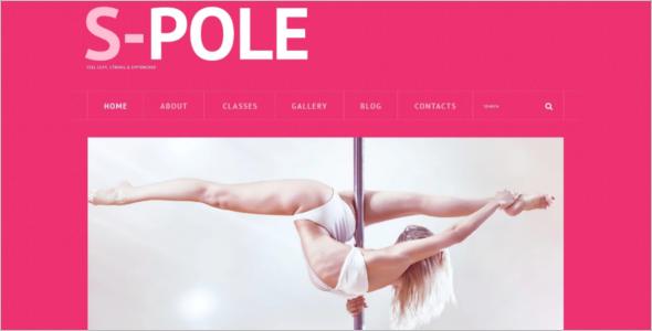 Pole Dance School WordPress Theme