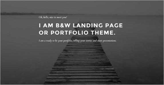 Portfolia Free Landing Page Theme