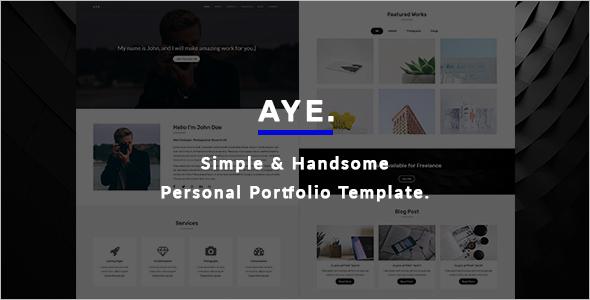Portfolio HTML Bootstrap Template