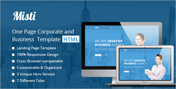 Portfolio HTML Business Template