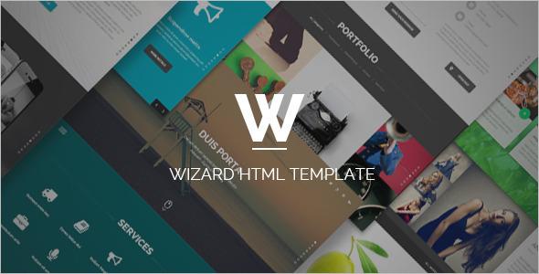 Portfolio HTML Design Template
