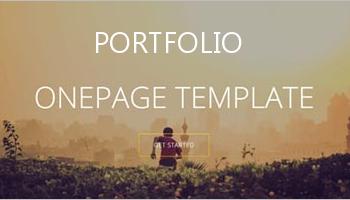One Page Portfolio Templates