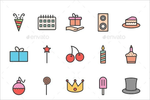 Premium Birthday Party Illustration Template