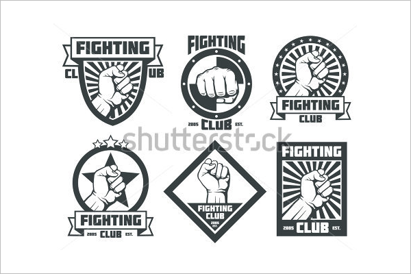 Premium Boxing Badges Template