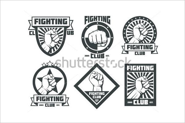 Premium Boxing Badges Template
