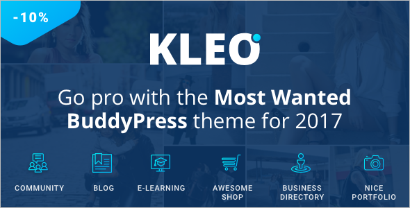 Premium BuddyPress Theme 2017