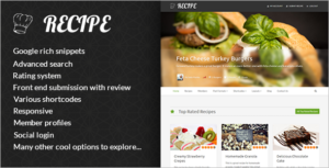 Premium Recipe WordPress Theme