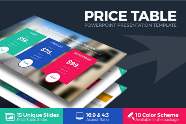 Price Table PowerPoint Template
