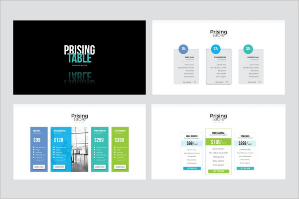 Pricing Table Presentation Template