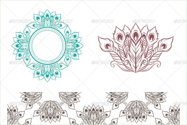 Printable Peacock Vector