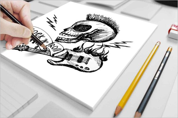 Printable Skull Tattoo Design