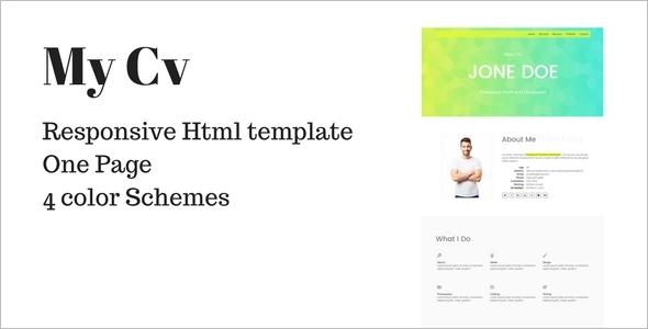 Professional One Page Portfolio Template