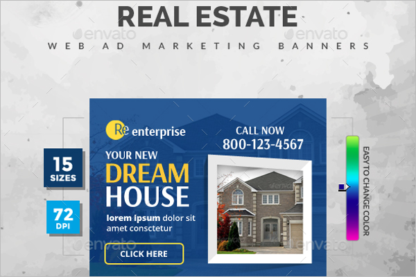 Real Estate Marketing Banner Template