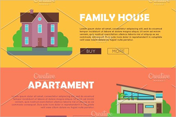Real Estate PSD Banner Template