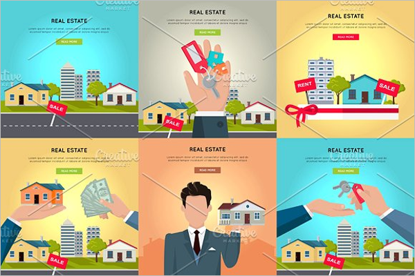 Real Estate Vector Banner Template
