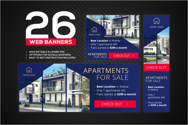 Real Estate Web Banner Template