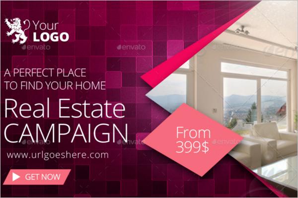 Real Estate Website Banner Template