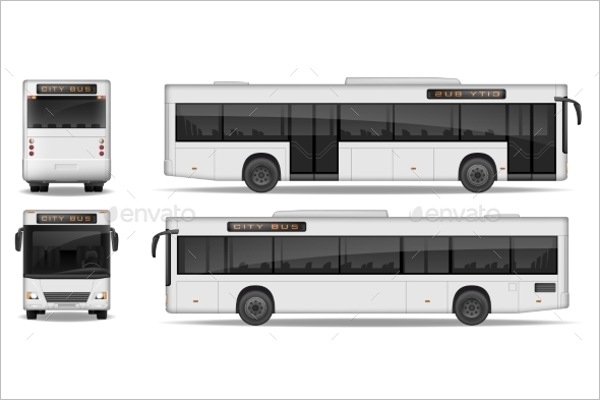 Realistic Bus Illustration Vector