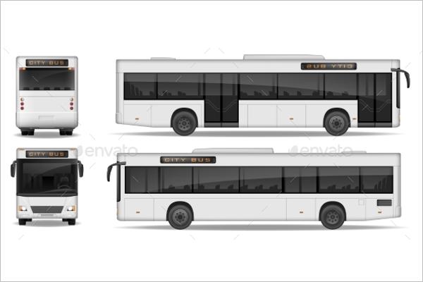 Realistic Bus Illustration Vector