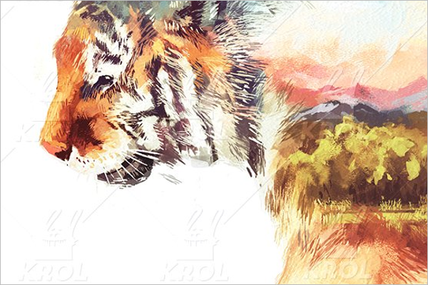 Realistic Tiger Tattoo Design