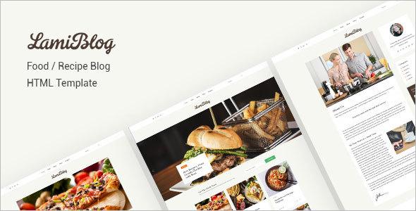 Recipe Blogging HTML Template