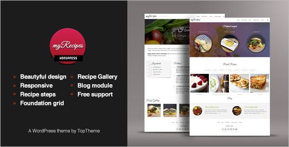 Recipe Steps WordPress Theme