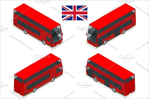 Red Bus Illustration Vector