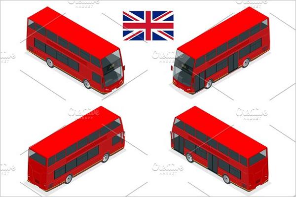 Red Bus Illustration Vector